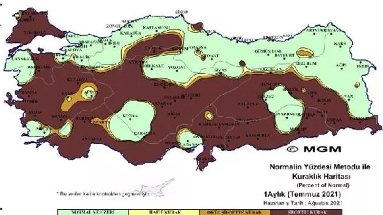 Meteoroloji'den korkutan kuraklık haritası