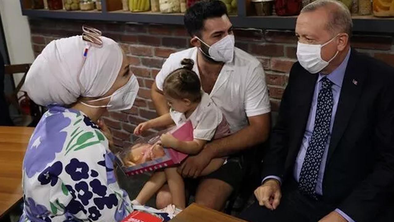 Cumhurbaşkanı Erdoğan'dan restoran ziyareti