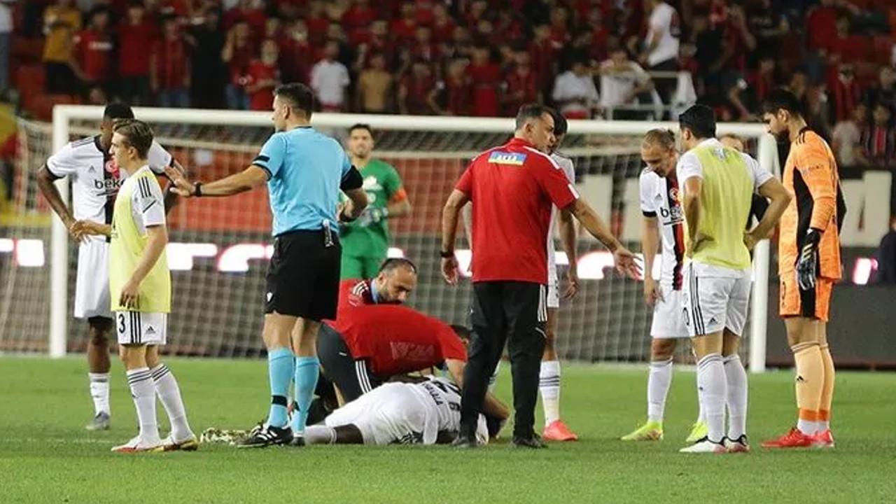 Beşiktaşlı N'Sakala tüm futbolseverleri korkuttu