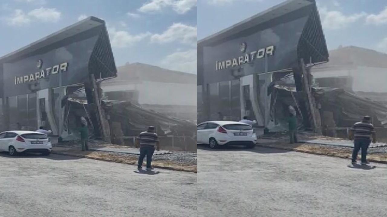 İstanbul'da korku dolu anlar: Sanayi sitesinde bina çöktü