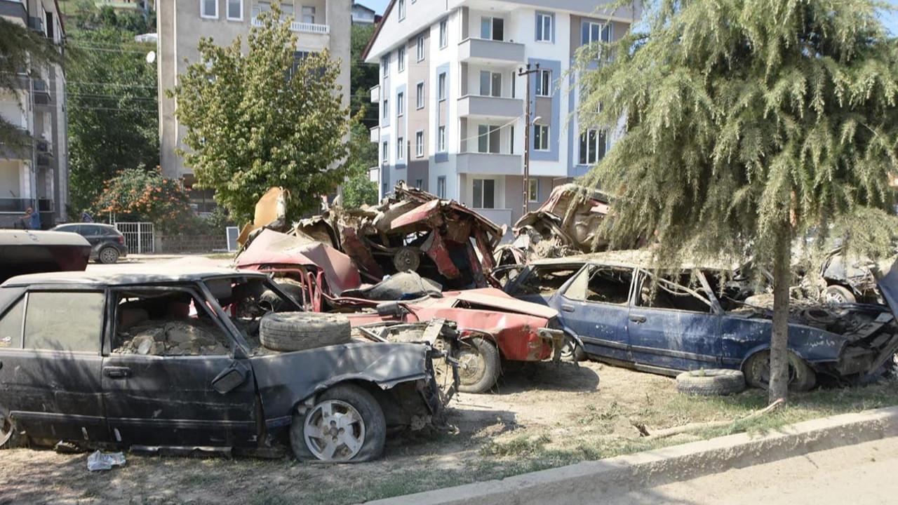Sel felaketi sonrası Sinop otomobil mezarlığına döndü