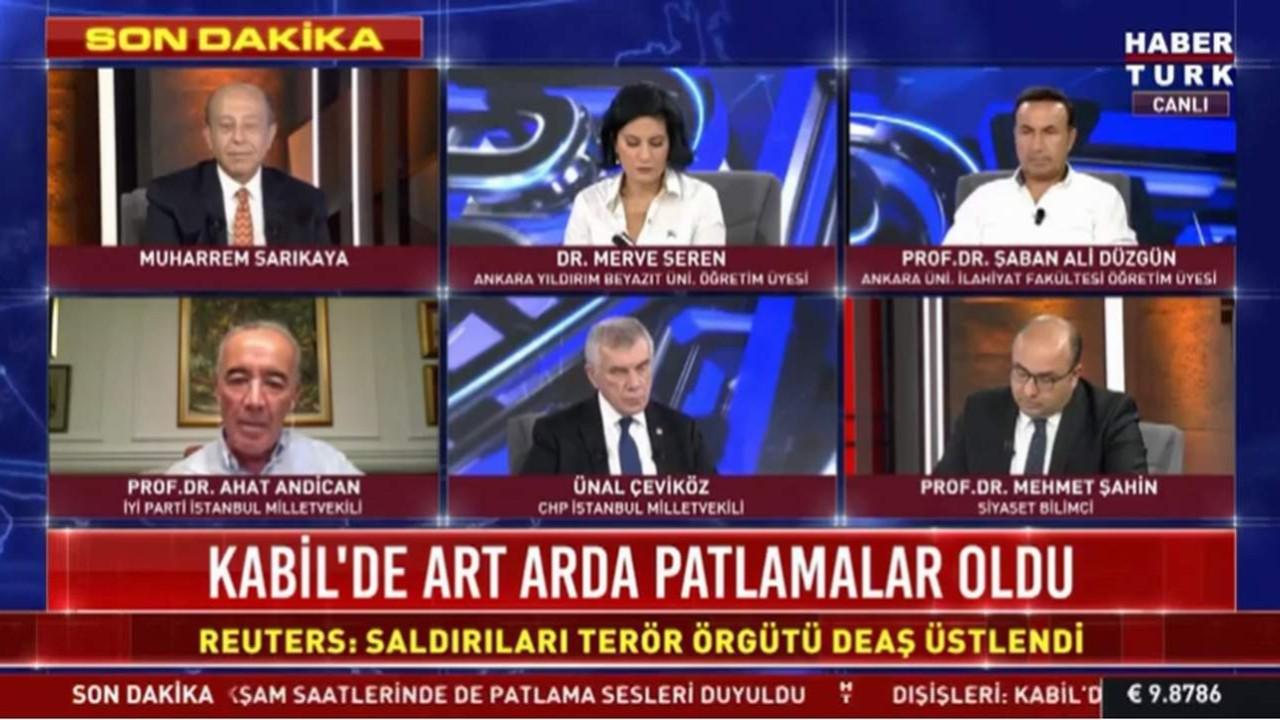 Yine Habertürk yine canlı yayında ''o'' ses!