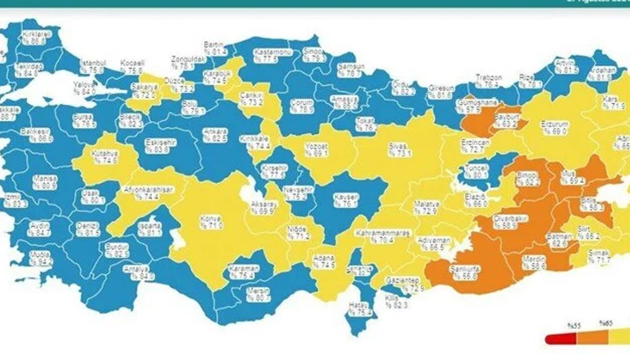 Vali Yerlikaya müjdeli haberi duyurdu: Harita maviye döndü