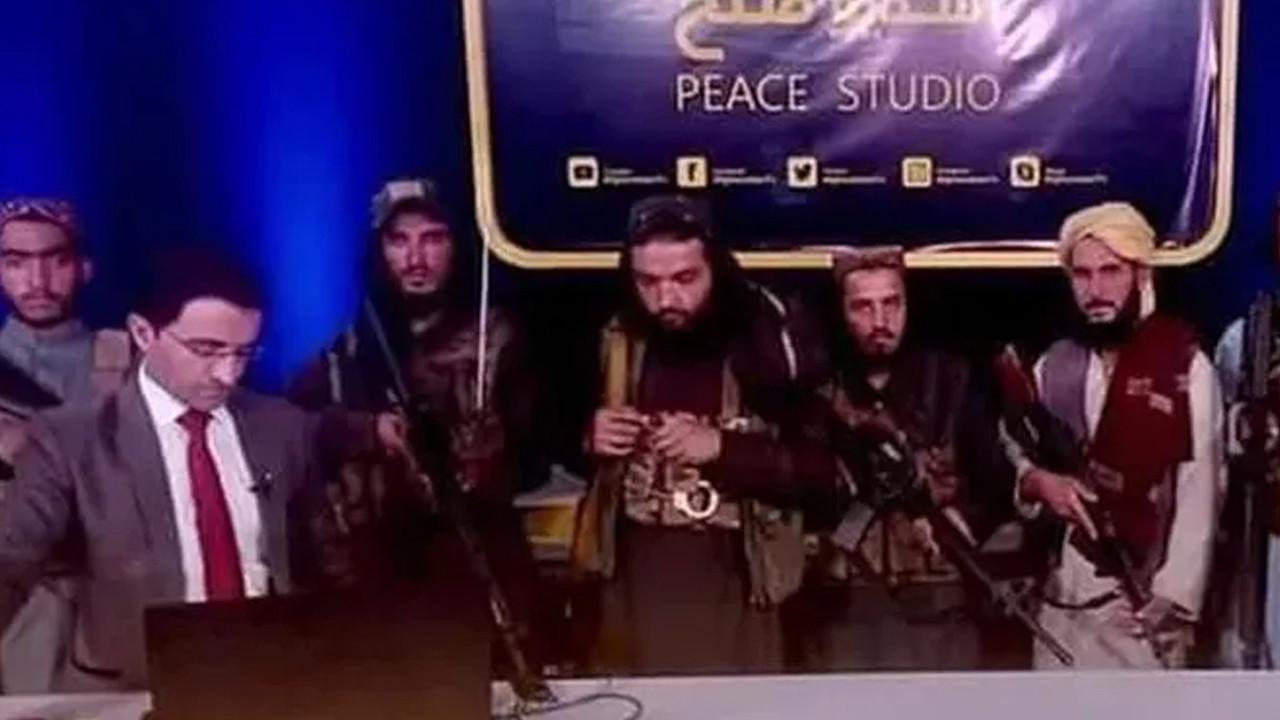 Böylesi görülmedi: Taliban yayına böyle çıktı!