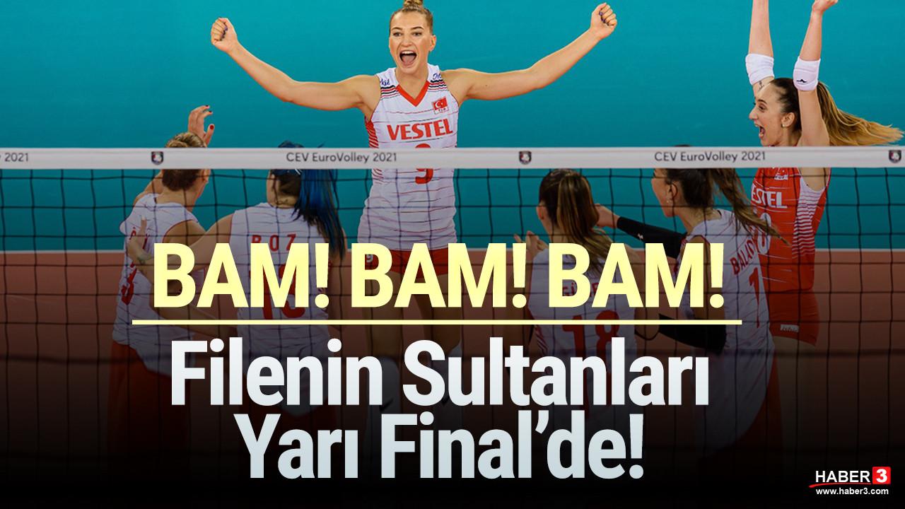 Bravo kızlar! Filenin Sultanları yarı finalde