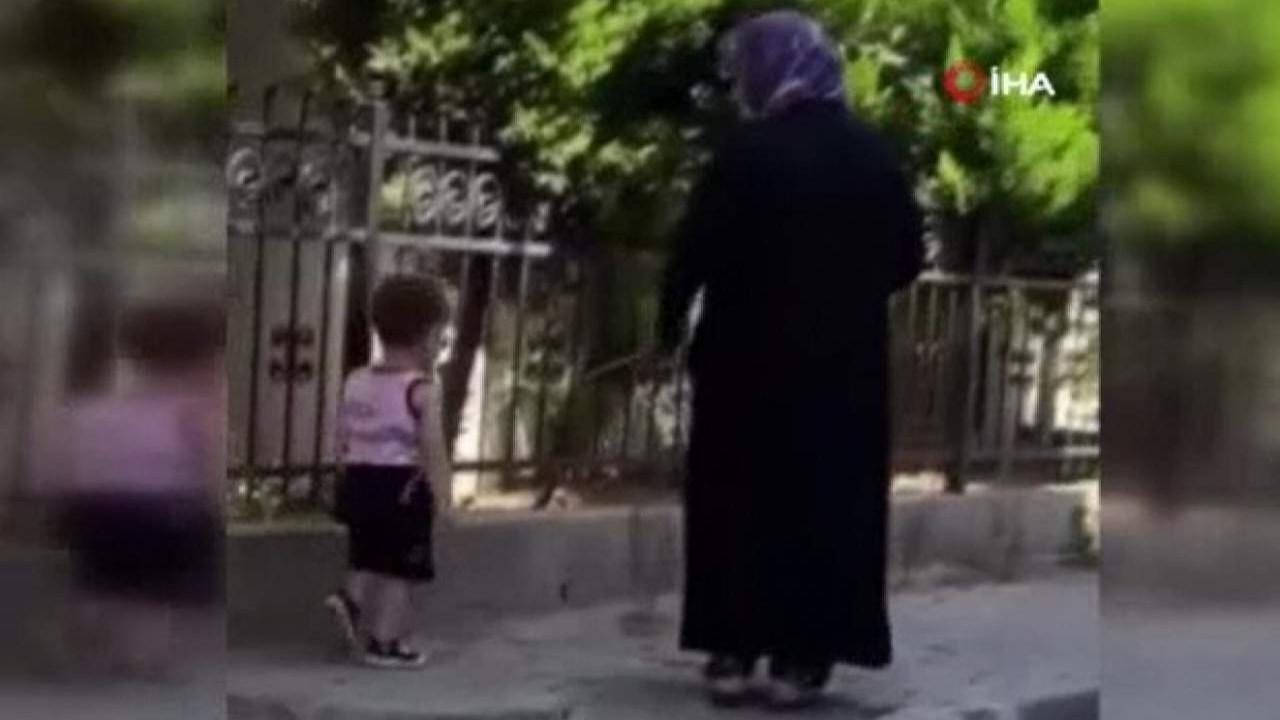 İstanbul'da tepki çeken görüntü... Çocuğunun beline ip bağlayıp gezdirdi