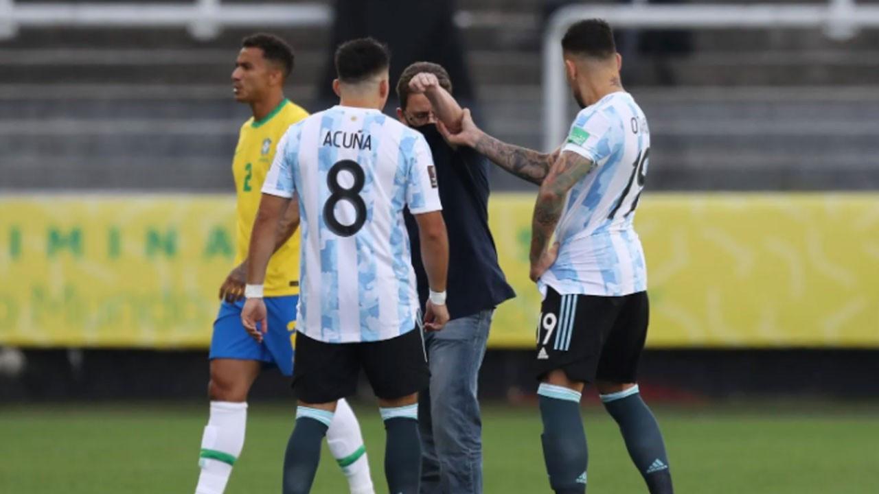 Brezilya - Arjantin maçında kaos!