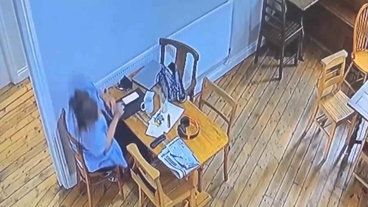 Kafeteryanın hayaleti kamerada! Tüyler ürperten görüntü!