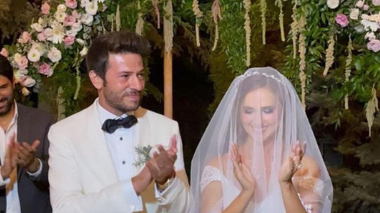 Ünlü çiftin mutlu günü! Düğüne ünlü yağdı