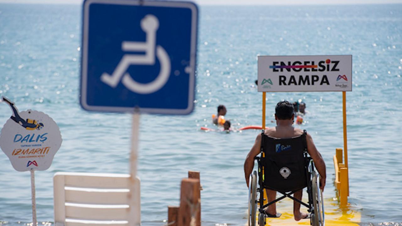 Mersin Büyükşehir'in plajları ''Engelsiz Rampa''ya kavuştu