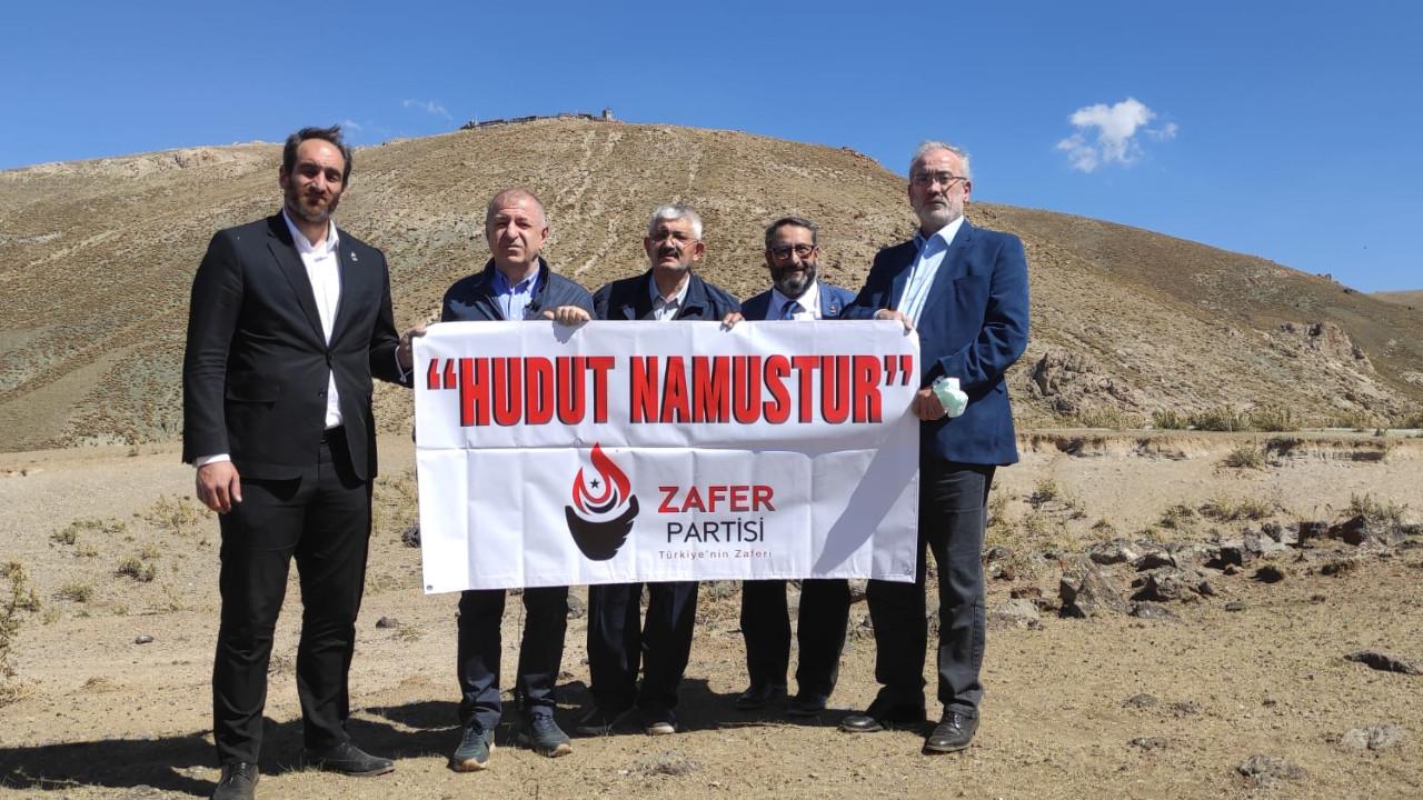 Zafer Partisi Van-İran sınırında ''Hudut Namustur'' pankartı açtı