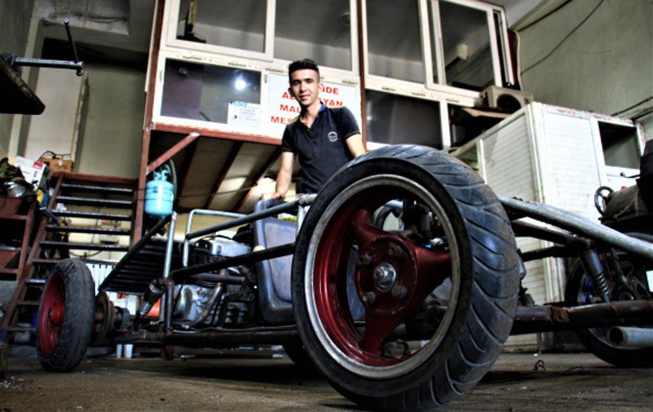 Genç usta hayalini gerçekleştirip kendi arabasını yaptı - Resim: 3