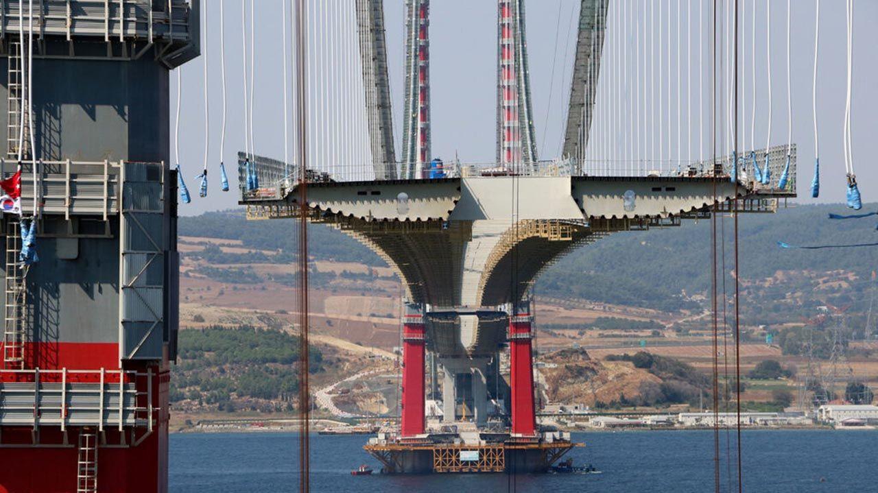 Çanakkale Köprüsü'nün üstünde ilk çekim... Ay sonu tamamlanıyor! - Resim: 3
