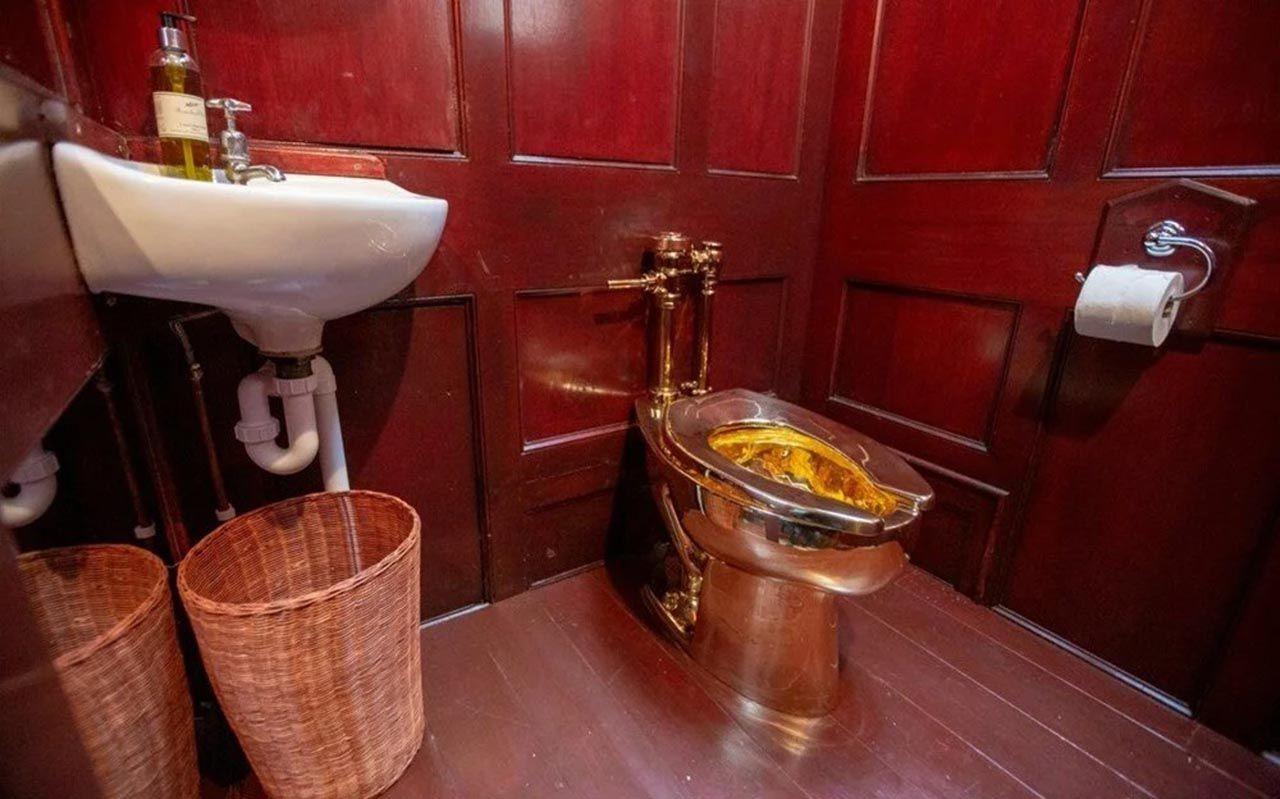 6 milyon dolarlık altın tuvalet sır oldu - Resim: 1