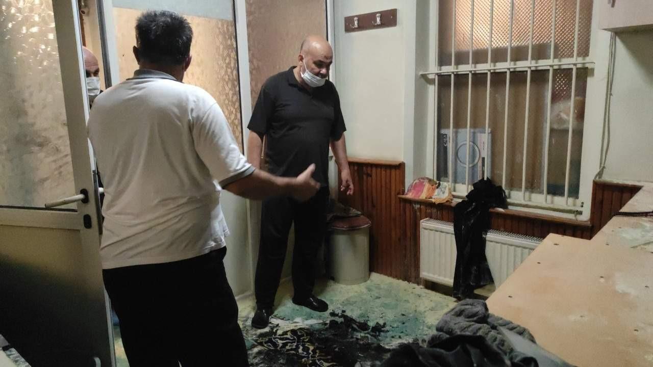 İstanbul'da camiyi kundaklamaya çalıştılar