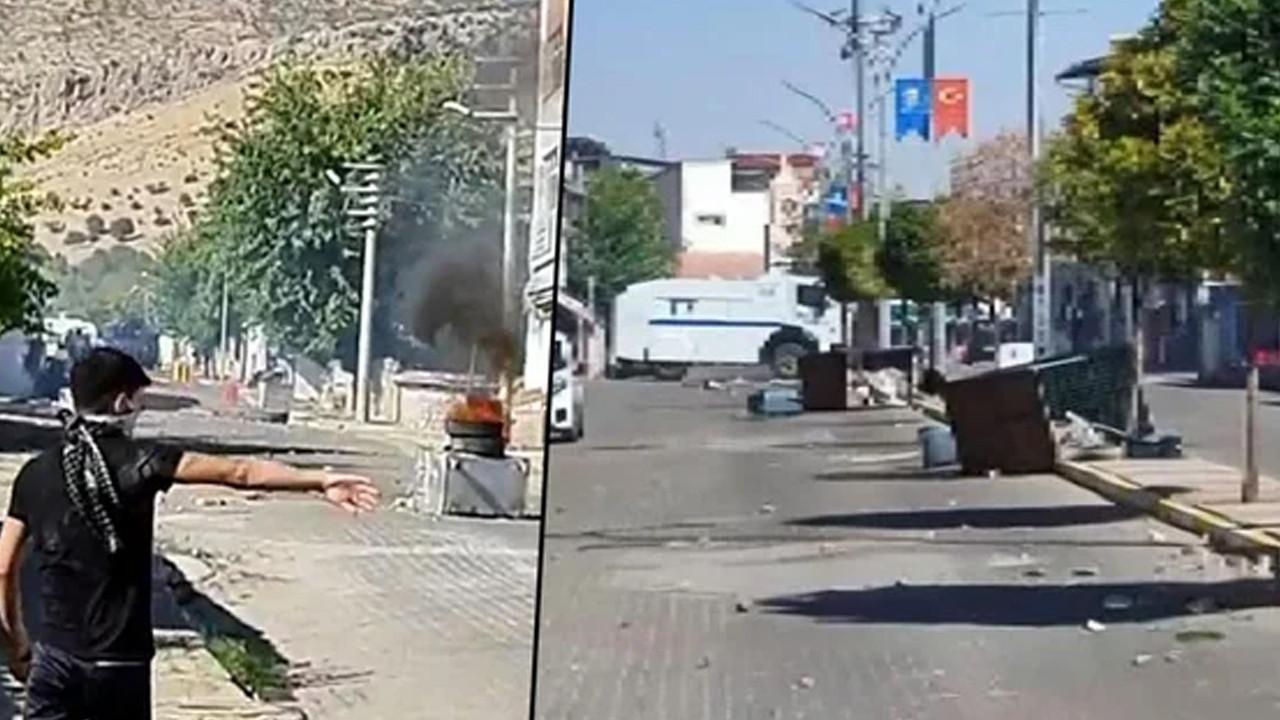 Diyarbakır'da gergin dakikalar: Sokaklar savaş alanına döndü