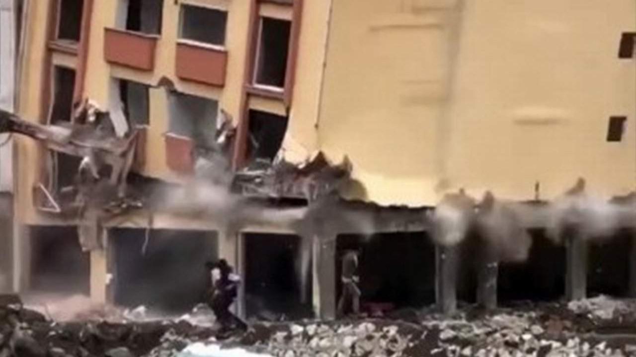 Afet bölgesinde felaketten kıl payı kurtuluş kamerada