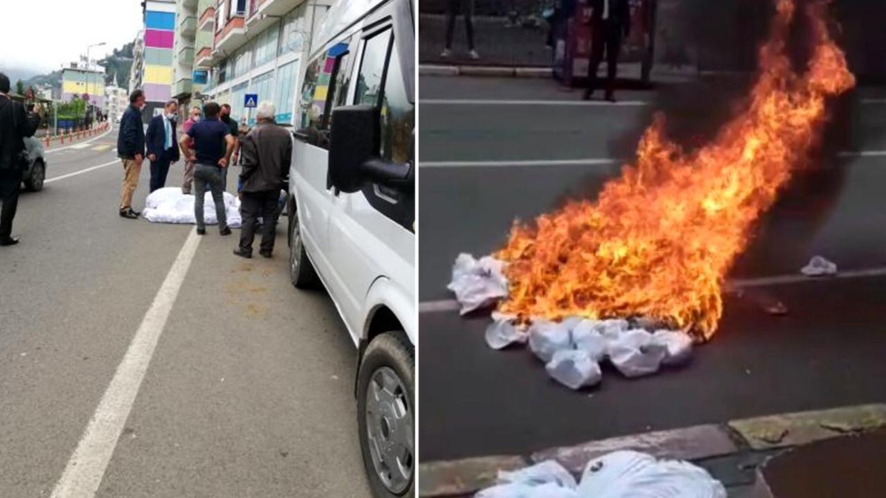 Fabrikaya ''Kürdistan şapkası'' baskını! MHP'li başkan hepsini yaktırdı