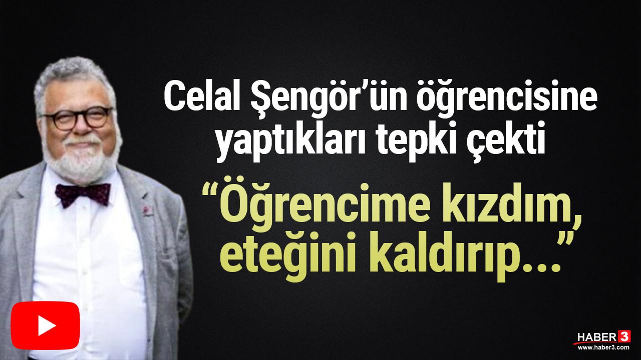 Celal Şengör'ün videosu sosyal medyada tepki çekti: Öğrencime kızdım, eteğini kaldırıp...