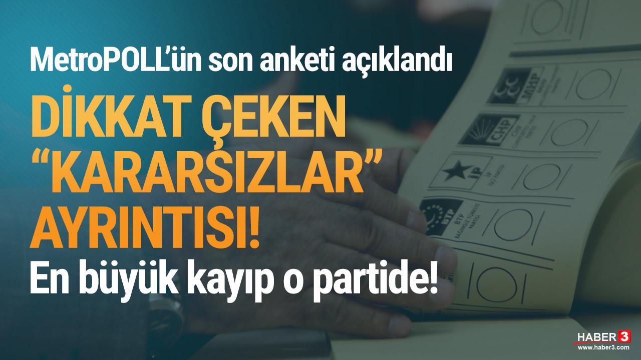 MetroPOLL'ün son anketinde AK Parti'ye ''kararsızlar'' darbesi