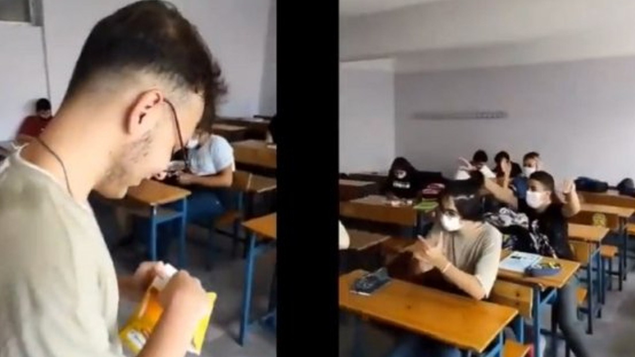 Sosyal medyayı sallayan video: Sınıf başkanı seçilen öğrenci Erdoğan taklidi yaptı