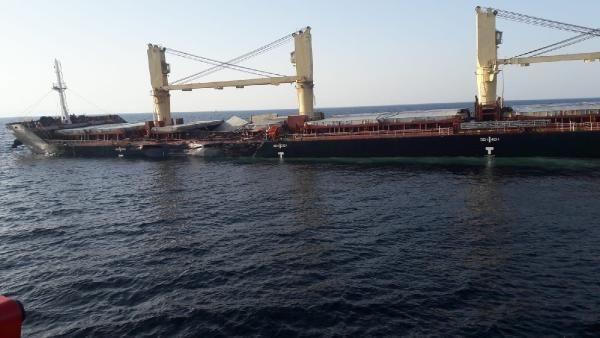 Bozcaada açıklarında iki gemi çarpıştı - Resim: 1