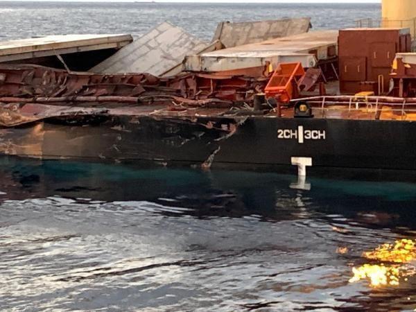 Bozcaada açıklarında iki gemi çarpıştı - Resim: 2