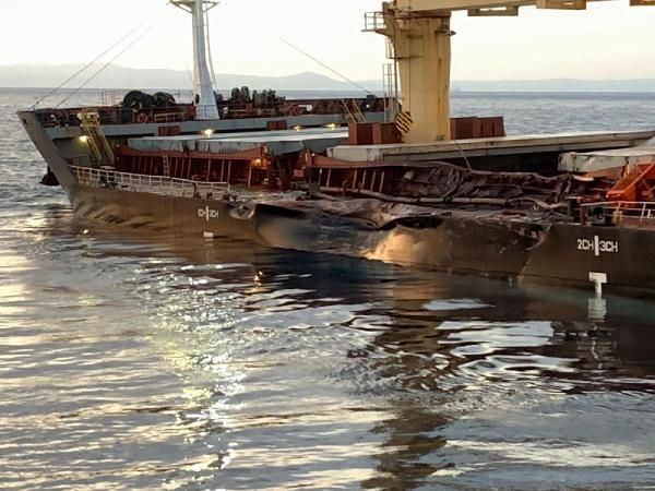 Bozcaada açıklarında iki gemi çarpıştı - Resim: 3