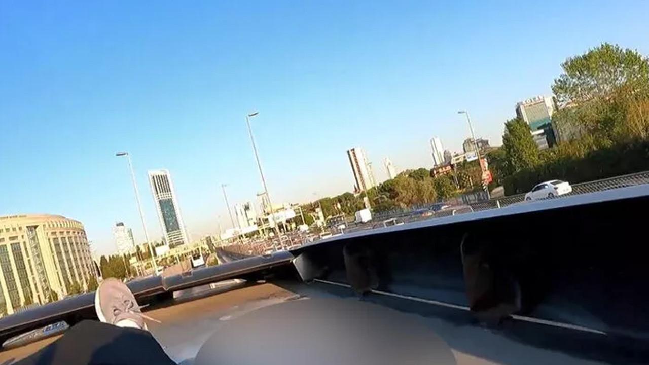 Galata Köprüsü'nden gemiye atlayan ''çılgın'' bu sefer öyle bir şey yaptı ki...