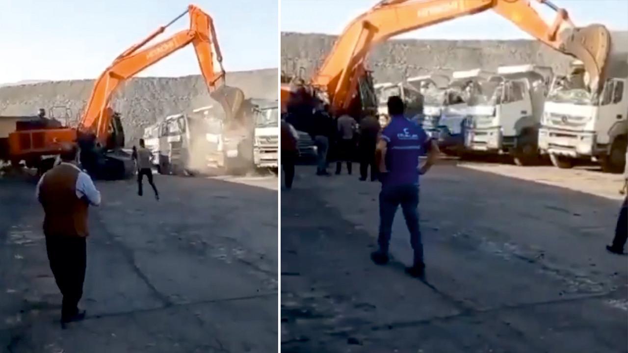 Kepçeyle kamyonları parçalamıştı! Olayın perde arkası ortaya çıktı