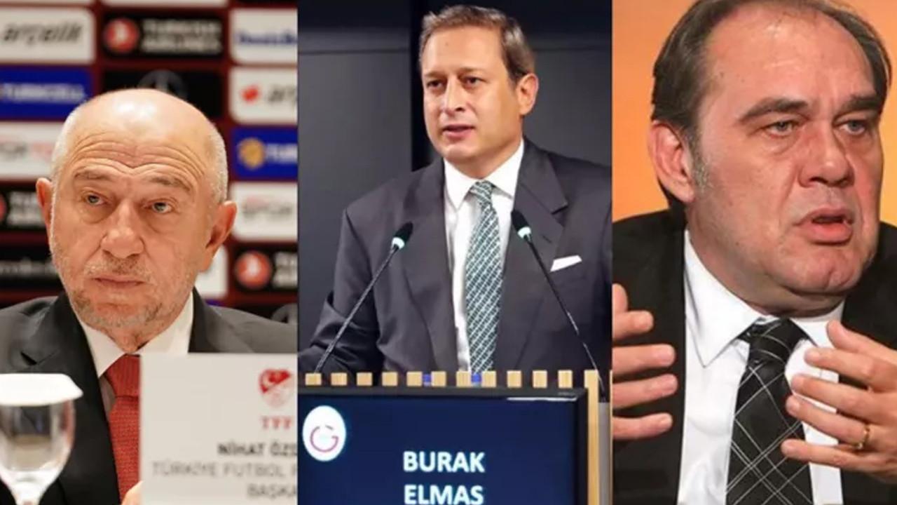 TFF'den Nihat Özdemir ve Burak Elmas açıklaması