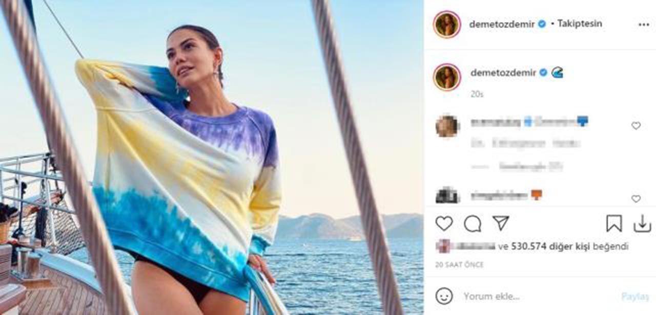 Demet Özdemir, mini elbisesiyle teknede poz verdi - Resim: 2
