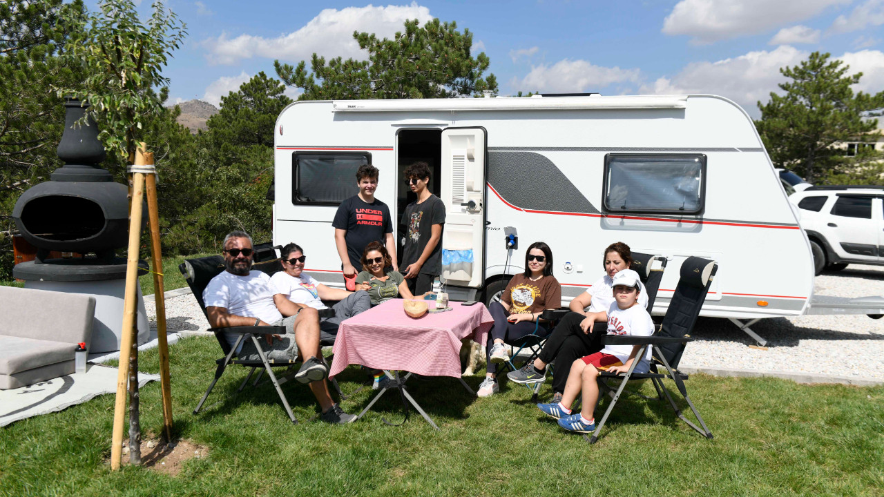 Ankara Büyükşehir'in karavan parkları karavan tutkunlarının gözdesi oldu