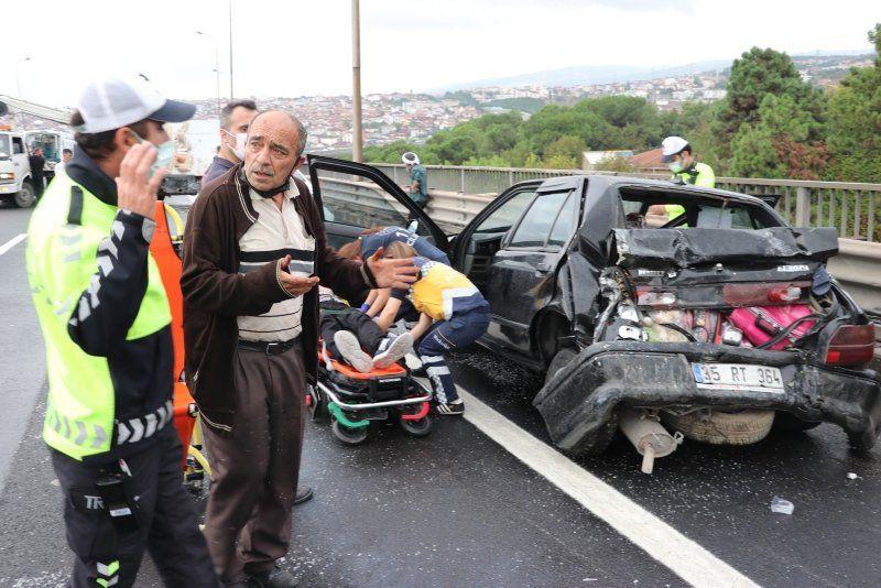 TEM'de korkunç kaza! Kilometrelerce kuyruk oluştu - Resim: 4