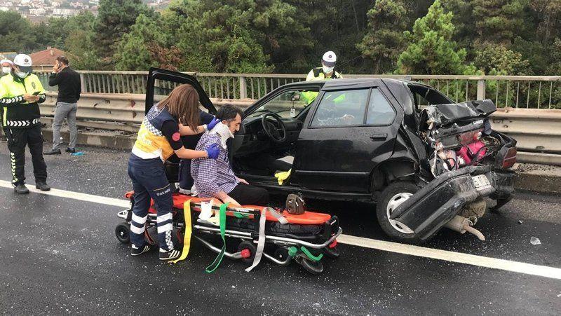 TEM'de korkunç kaza! Kilometrelerce kuyruk oluştu - Resim: 2