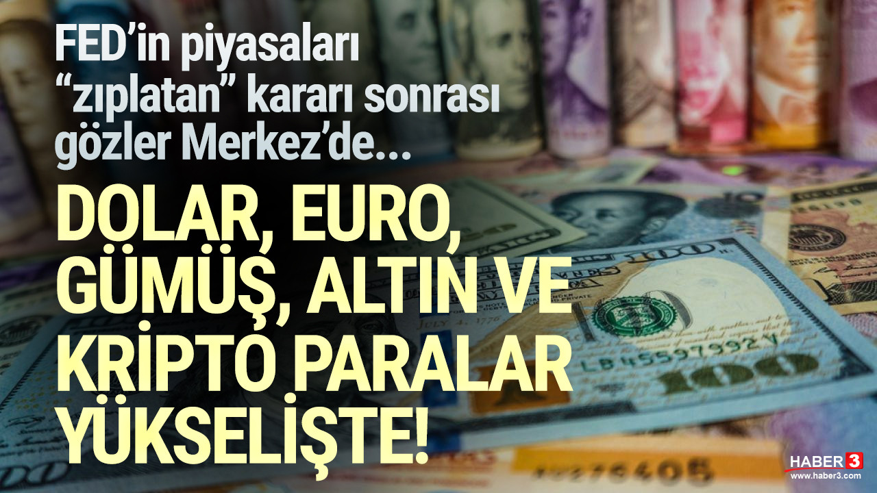 FED kararını verdi, gözler TCMB'de... İşte dolar, euro ve altında son durum