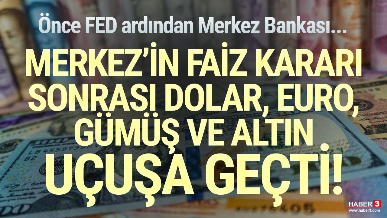 Faiz düştü, döviz uçtu! Dolar, Euro ve altında büyük yükseliş