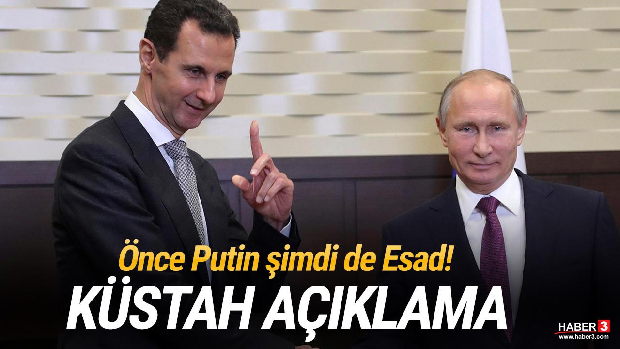 Önce Putin şimdi de Esad rejimi! ''Türkiye derhal geri çekilmeli''