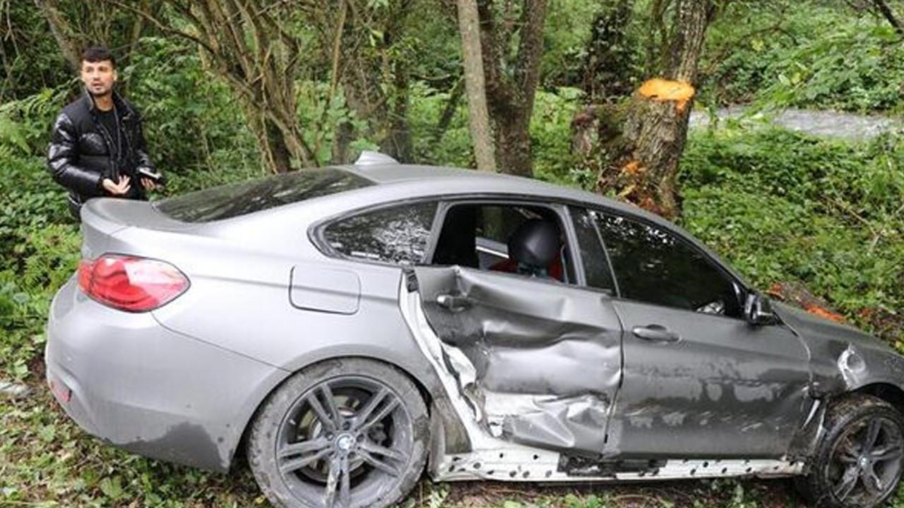 Bolusporlu futbolcular kaza yaptı