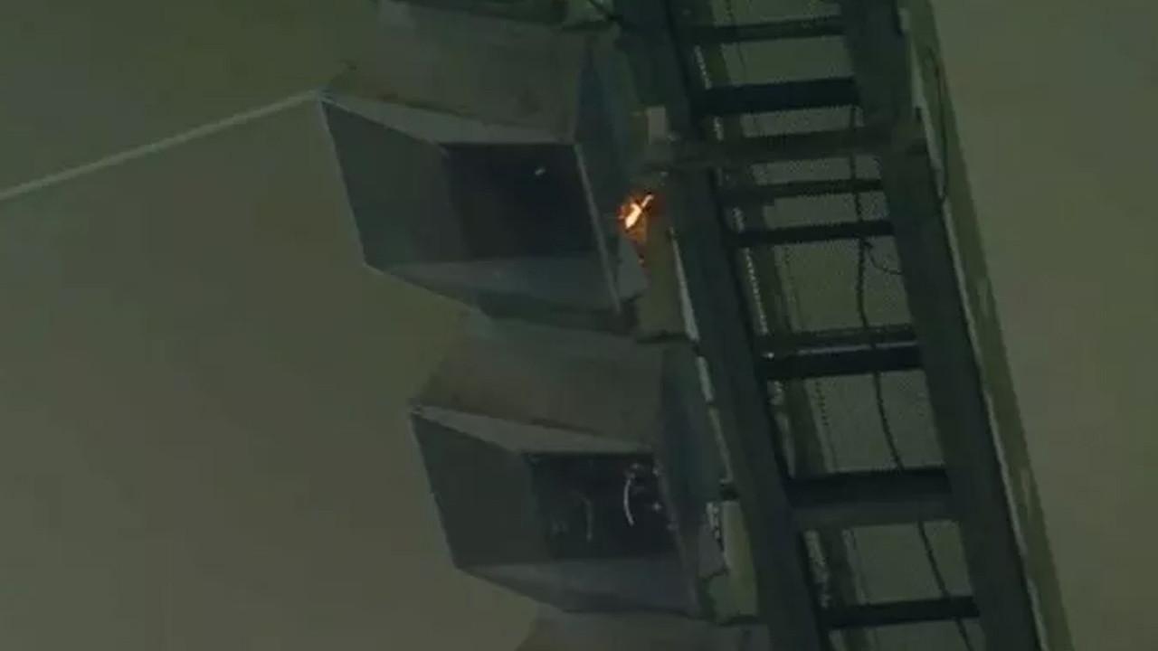 Fenerbahçe - Giresunspor maçında yangın çıktı
