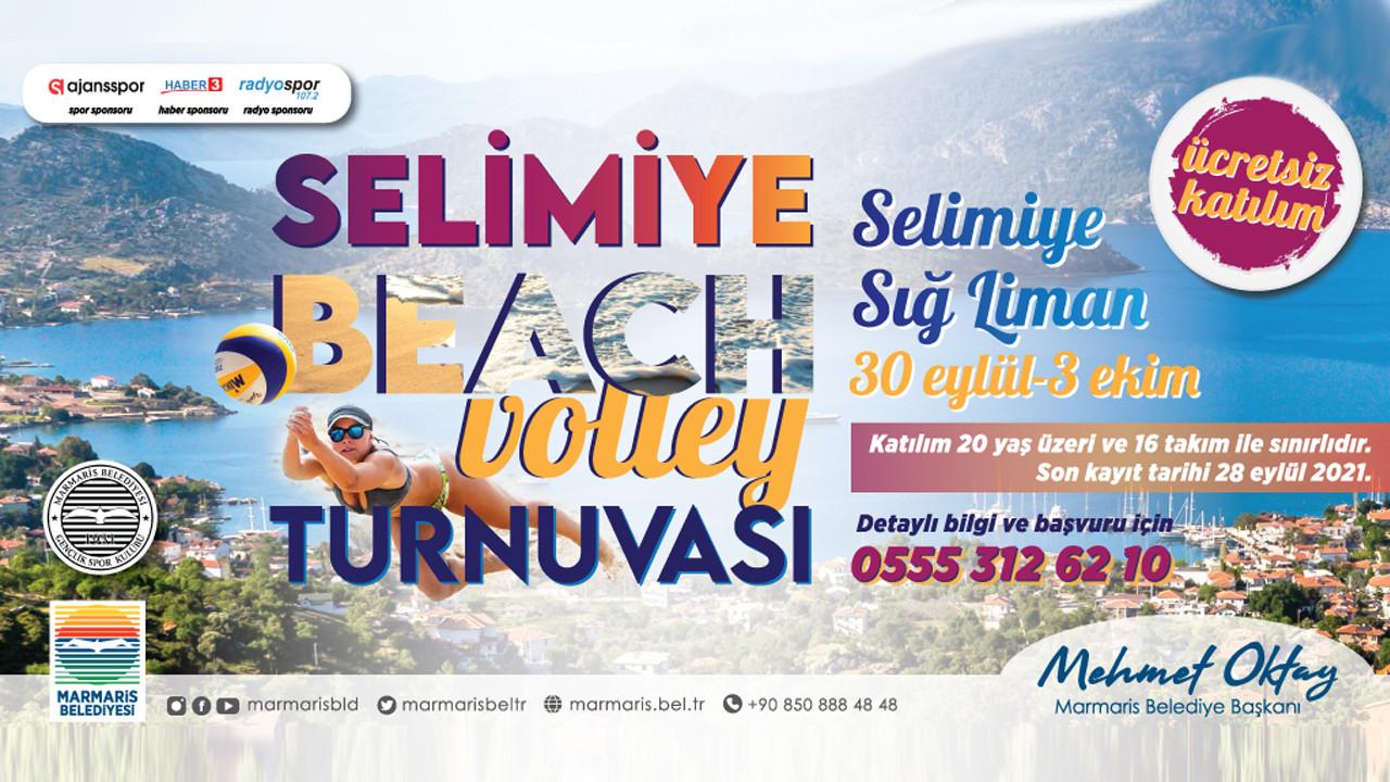 Selimiye'de plaj voleybolu heyecanı başlıyor