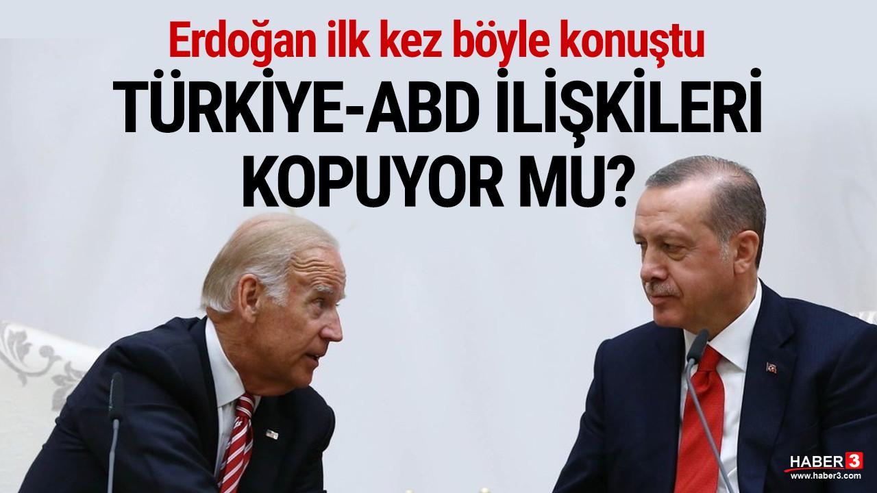 Erdoğan'dan ABD açıklaması: ''Bu konumda olmamalıydık''