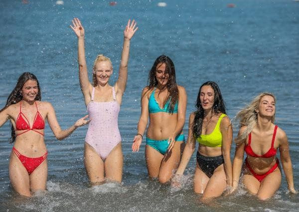 Antalya'da 40 ülkeden güzellik kraliçesi adayları denizin keyfini böyle çıkardı - Resim: 3