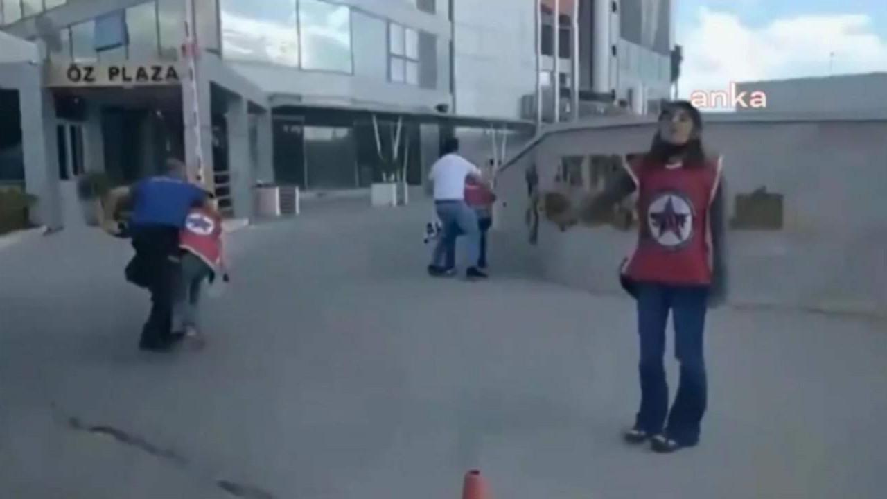 AK Parti binası önünde ''barınamıyoruz'' diyen öğrencilere sert müdahale