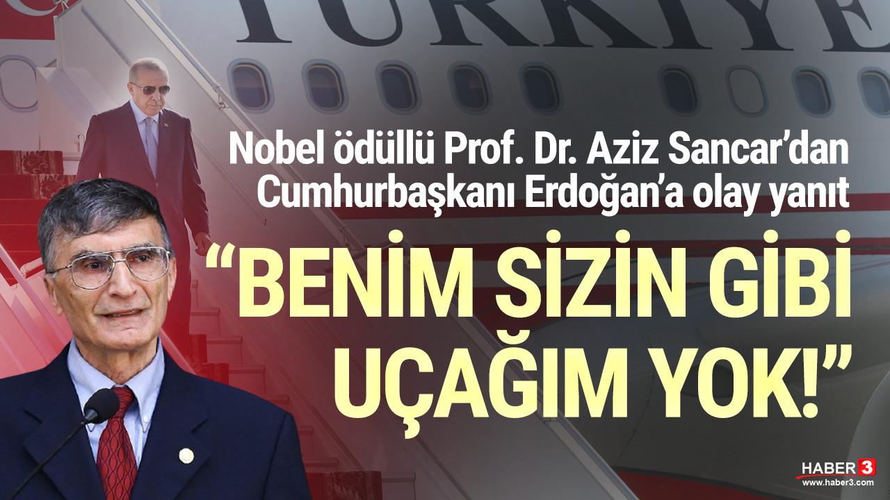Nobel ödüllü Prof. Dr. Aziz Sancar'dan Cumhurbaşkanı Erdoğan'a olay yanıt