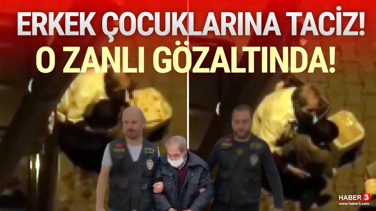 İstanbul'da sokak ortasında 2 erkek çocuğuna taciz kamerada