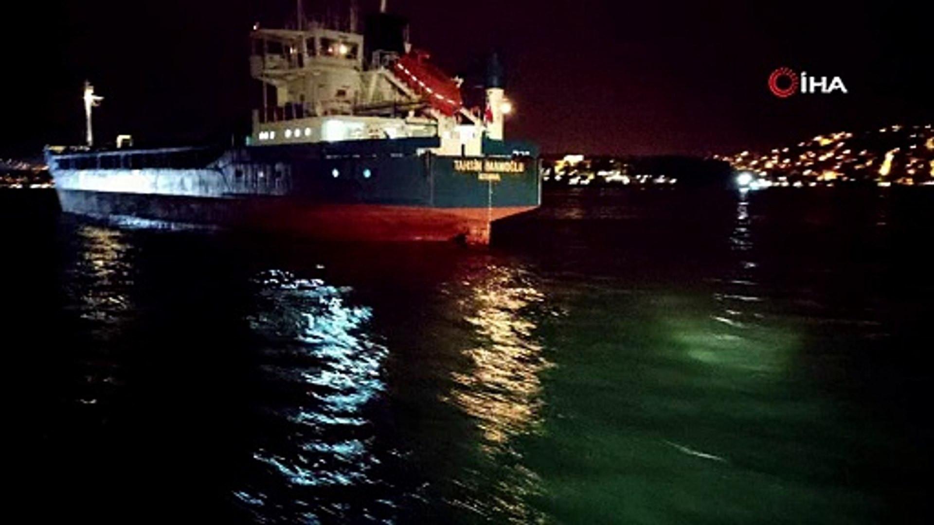 İstanbul Boğazı'nda 2 gemi çarpıştı!