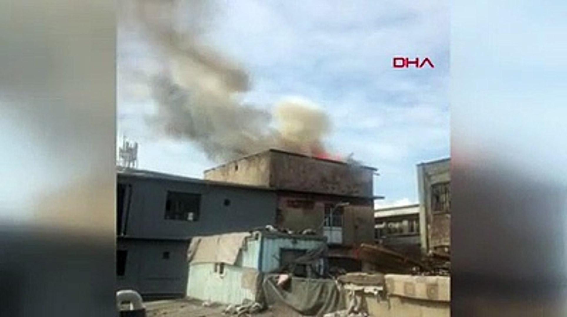 İstanbul'da fabrikada yangın
