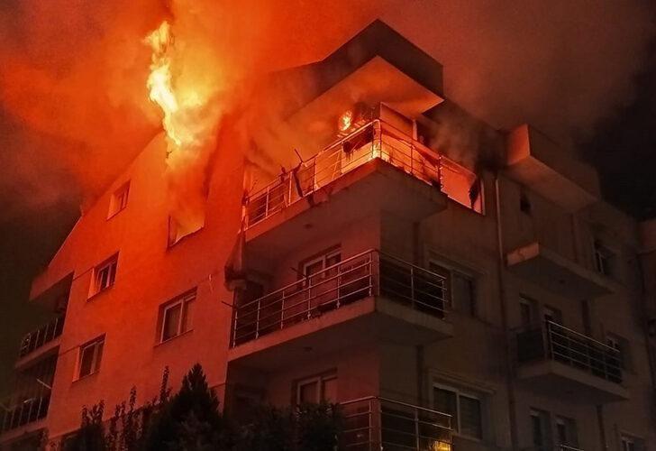 Öfkeli koca binayı ateşe verdi, mahalleli sokağa döküldü - Resim: 4