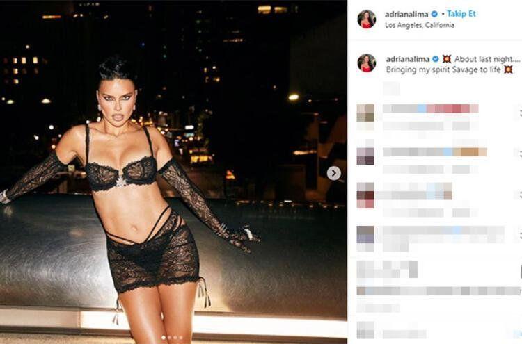 40 yaşındaki güzel Adriana Lima pozlarıyla sosyal medyayı kasıp kavurdu - Resim: 2